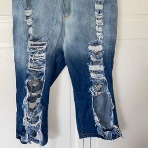 Fashion Nova Distressed Denim Shorts‼️✨